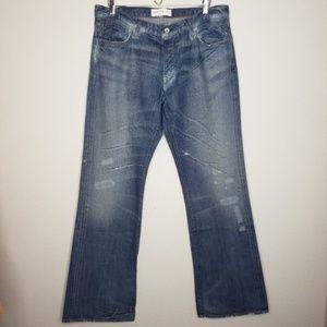 Paper Denim & Cloth Distressed Wide Leg Jeans